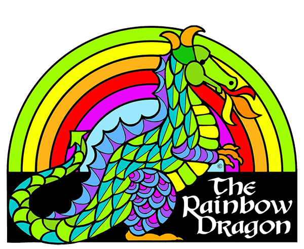 The Rainbow Dragon Coloring Book for adults & children